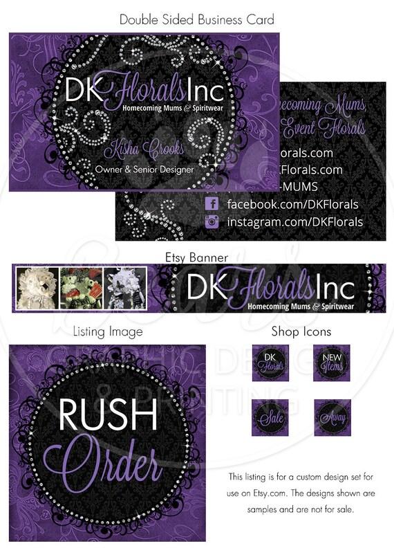 Custom Etsy Cover Photo, Etsy Shop Banner, Etsy Shop Design, Custom Etsy Banner Set, Etsy Branding Set, Shop Design Package, Business Card