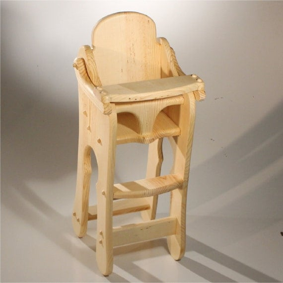 Items similar to Doll High Chair Solid