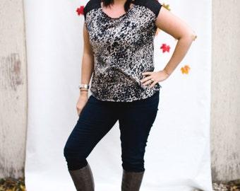 Leopard Print Top, Leopard Blouse, Leopard Tshirt, Ethical Fashion, Plus Size Fashion, Plus Size Tops, Womens Tops, Womens Blouses, Blouses