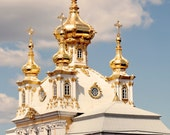 Saint Petersburg Russia Photography Print - Russian Wall Art - Travel Photography - Gold Decor - Architecture Photo -