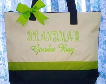 Personalized Tote Bag Monogrammed Grandma Nana Granny Mother's Day Gift Custom Birthday