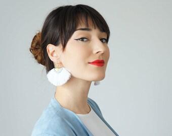 Tassel Earrings Spring Accessory Summer Trends Blue Earrings Tassel Jewelry Statement Earrings Statement Jewelry Dangle Earrings / GALLO
