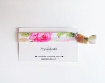 Floral Rose Hair Tie
