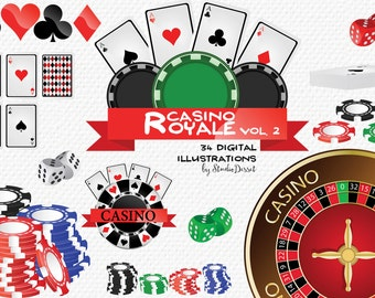 Casino Cliparts, Poker Clip Art Cards, Chips Poker, Dice, Roulette, Gambling Cliparts, Poker Clipart C190