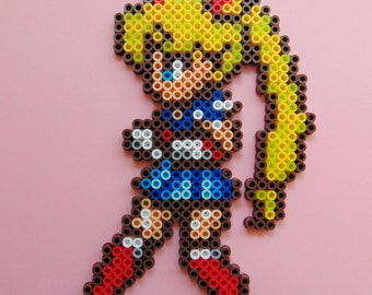 Hama/Perler/Fuse Bead Sailor Moon Inspired Pixel Art Bead Sprite, 8 Bit, 8 Bit Art, Kawaii, Anime, Manga, Anime Girl, Anime Pixel Art