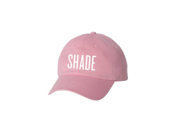 Shade Baseball Cap Hat Light Pink Black Navy Baby Blue