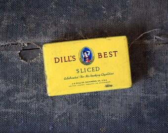 Dill's Best Sliced Tobacco Tin - J.G Dill Co. Richmond VA, USA - Vintage Advertising Tobacco Case