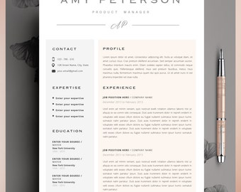 How To Write Summary For Resume Word Resume Template Cv Template Editable In Ms Word And Pages Should A Resume Be One Page Word with Sales Manager Resume Objective Pdf Creative Resume Template Cv Template Instant Download Editable In Ms Word  And Pages High School Resume Objective Examples Excel