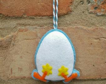 Cute felt Easter chick ornament