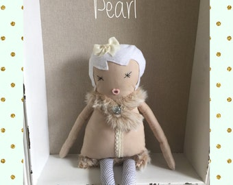 "Rag doll, handmade doll- PEARL 21"""