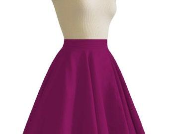 JULIETTE Burgundy Rockabilly Swing Rock 'n Roll Skirt//Full Circle Burgundy Skirt//Retro Mod 50s style Skirt//Party Skirt XXS-3X