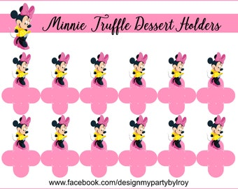 MINNIE MOUSE, Minnie Mouse Favors, Minnie Mouse Party Printable,Minnie Mouse Party Decor,Minnie Mouse Treat Boxes,Minnie Mouse Cups,Holders.