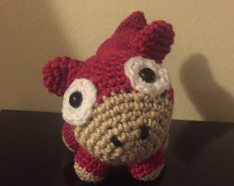 Crocheted slowpoke