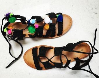 Pom Pom Gladiator Charms for Sandals