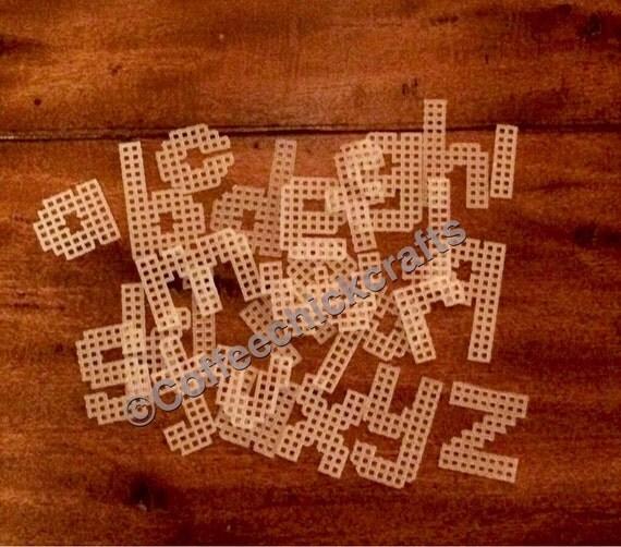 Items Similar To Plastic Canvas Lowercase Alphabet 1.25