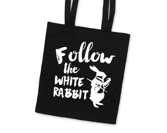 Cloth Bag WHITE RABBIT Screen Print