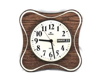 Horloge formica etsy - Horloge murale avec calendrier ...