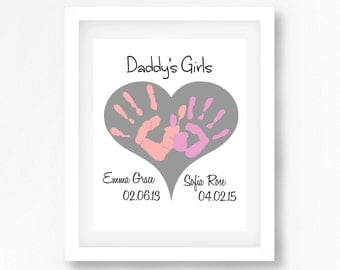 Daddy's Girls Gift, Gift for Daddy from Daughters, Fathers Day Gift for Dad, Personalised Father's Day Gift, OOAK Gift for Daddy