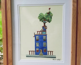 """Wooden Frame Cherry and Purpleheart for 8 by 10"""" image"""