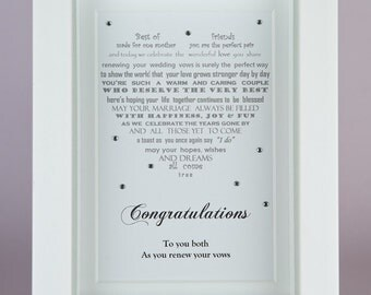 Vow renewal gift, renewal of vows, wedding vow renewal, poem celebrating renewal of vows