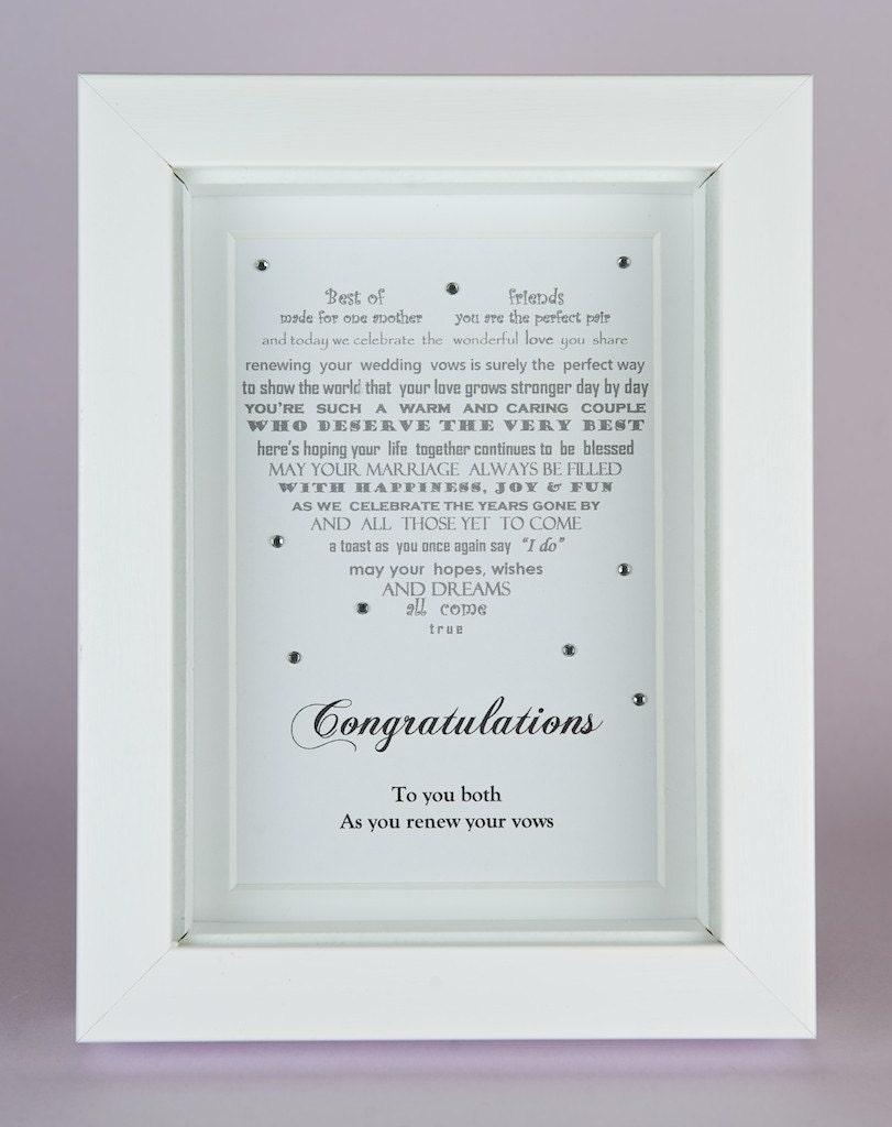 Wedding Renewal Gifts: Vow Renewal Gift Renewal Of Vows Wedding Vow Renewal Poem