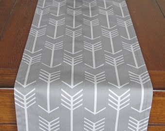 Gray Table Runner - Arrow Table Runner - Storm Gray Home Decor - Premier Prints Arrow Storm Gray - Tribal Table Runner
