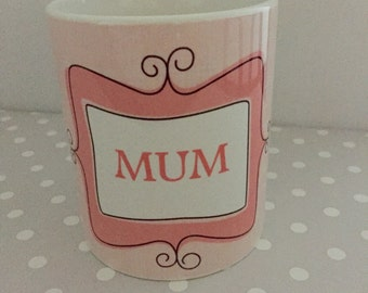 Mum / Nanna / Sister ect mug.Personalised,small message or name butterfly side detail. Birthday mug or Christmas Gift. Secret santa gift.