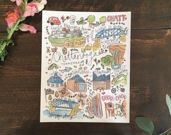 Chattanooga Print 8 x 10