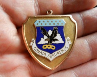 Vintage LGB Gold Filled Air force ACO Academy Medal Fob
