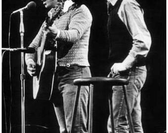 Simon and Garfunkel Live On Stage B/W Rare Vintage Poster
