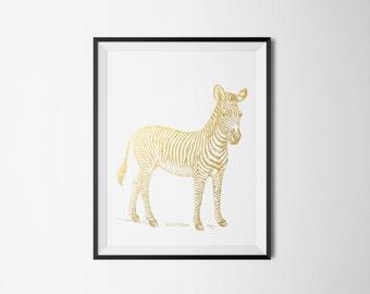 Zebra Foil Print REAL FOIL