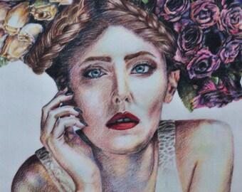 Hair of Roses - Print
