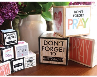 Prayer Blocks PDF print