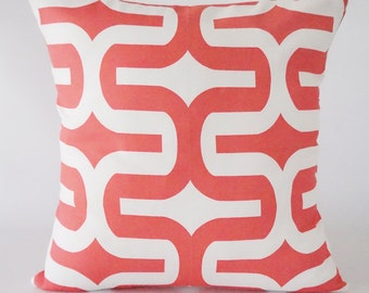 Coral Pillow Cover. Geometric Pillow Cover, pillow cover.throw pillows.cushion.decorative pillows  Ask a question