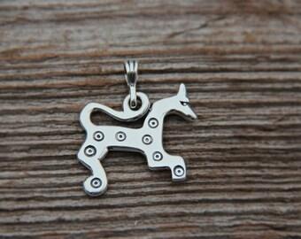 Silver Sun Horse pendant