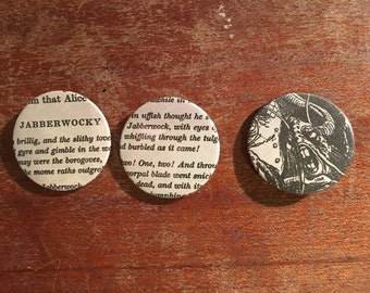 Alice Through the Looking Glass Inspired Badges/Pins