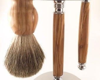 Deluxe Shaving Kit - Olivewood