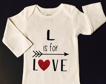 L is For Love Onsie or T-shirt