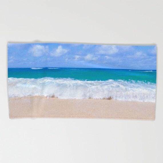 Hawaiian Beach Blanket: Hawaiian Beach Towel Large Bath Ocean Wave Towel Hand Towel