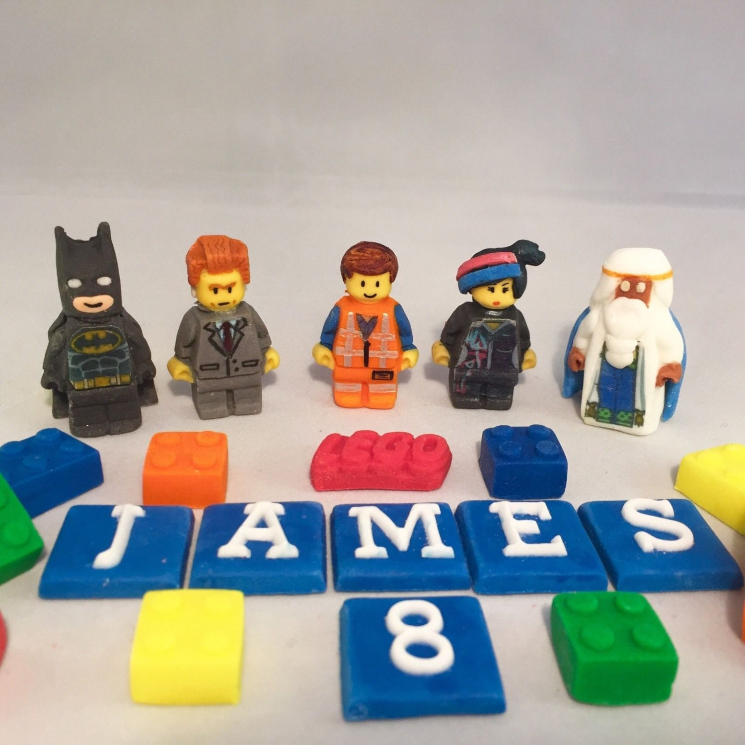 Edible Lego Movie Cake Topper