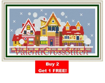 City Cross Stitch Pattern- Little City - Modern City- Small - City- Cross Stitch- Pattern- Patterns-PDF-SP 157