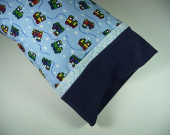 Toddler Pillow/Travel Sized Pillow/ Trains/Chew Chews/Child Pillow/Small Pillow