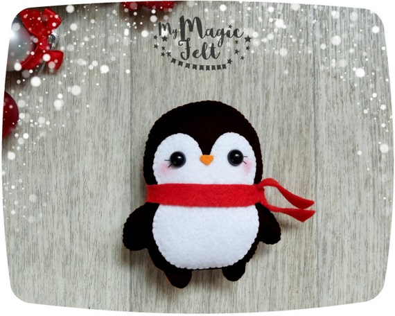 Christmas Ornaments Penguin Cute Christmas Ornaments Felt