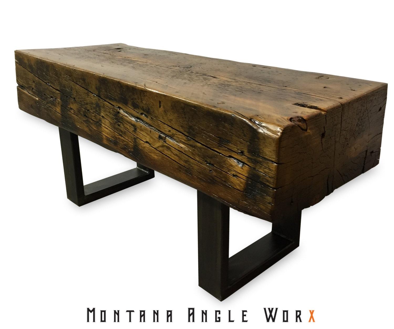 Reclaimed Montana Bridge Beam Bench Timber Bench Rustic