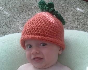 Crochet Pumpkin Hat and Booties