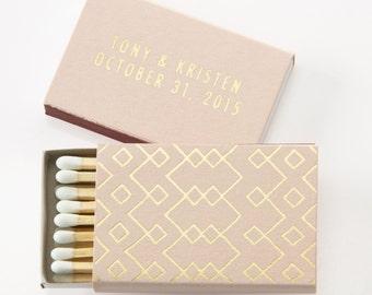 TRIBAL / GEOMETRIC Matchboxes - Wedding Favors, Wedding Matches, Wedding Decor, Personalized Matches, Custom Match Box, Party Favors, Decor
