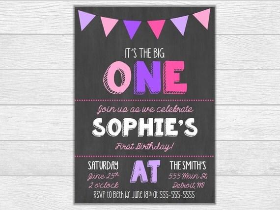 First birthday, first birthday invitation, first birthday party invite, birthday invite, printable invitation, digital download