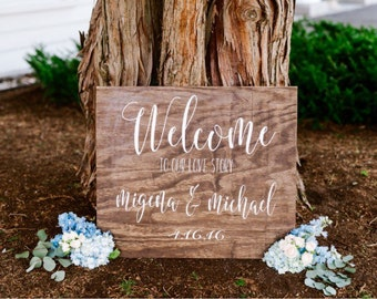 Wedding welcome sign, wedding decor