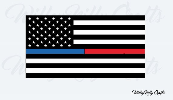 flag thin american line dispatcher decal gold police dispatch responder vinyl lines responders quotes gift decor dark firefighter silhouette etsy