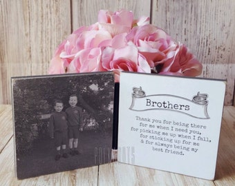 Wooden Photo Transfer blocks (Brothers)